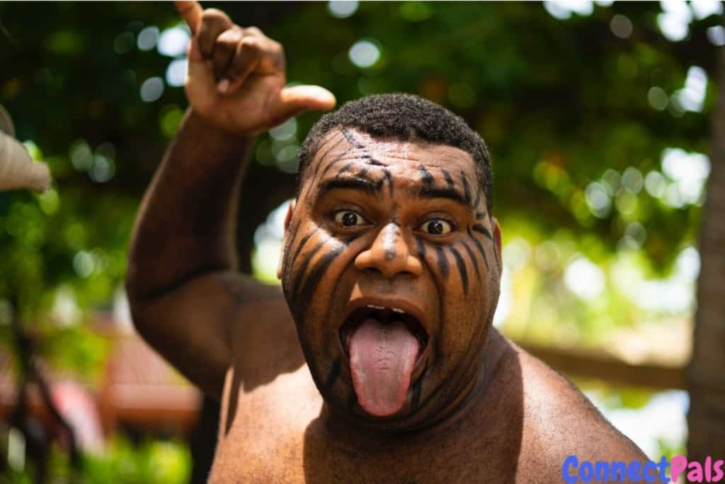 A Kiwi man after his tongue twister challenge