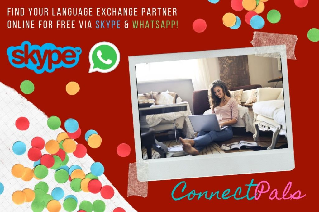 find whatsapp pen pals and language exchange online free on skype