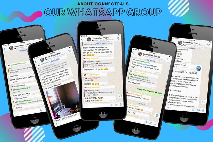 WhatsApp group international friends | About ConnectPals Languagege Exchange Penpal site