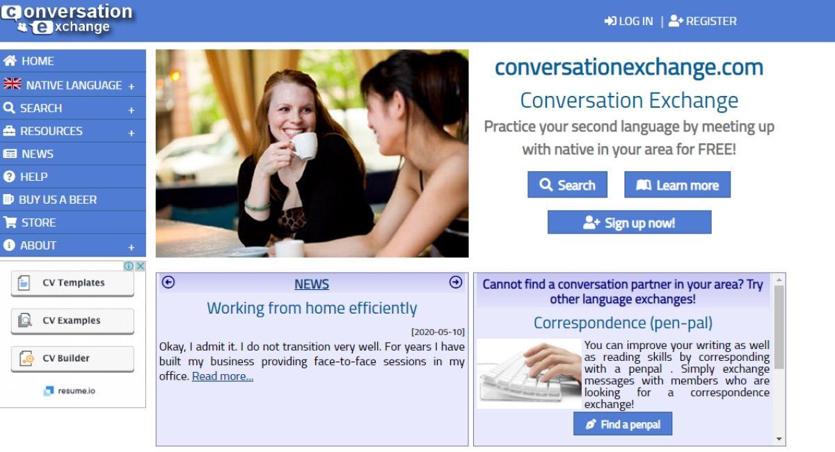 Conversation Exchange online