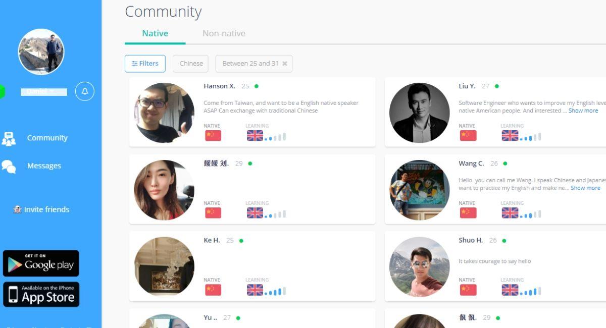 Speaky language partners online