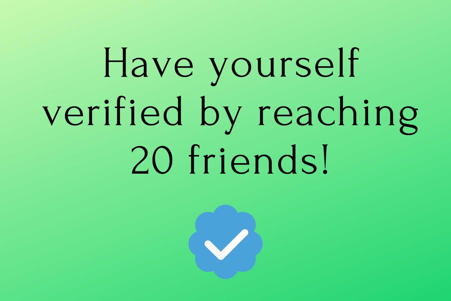 Get verified on ConnectPals
